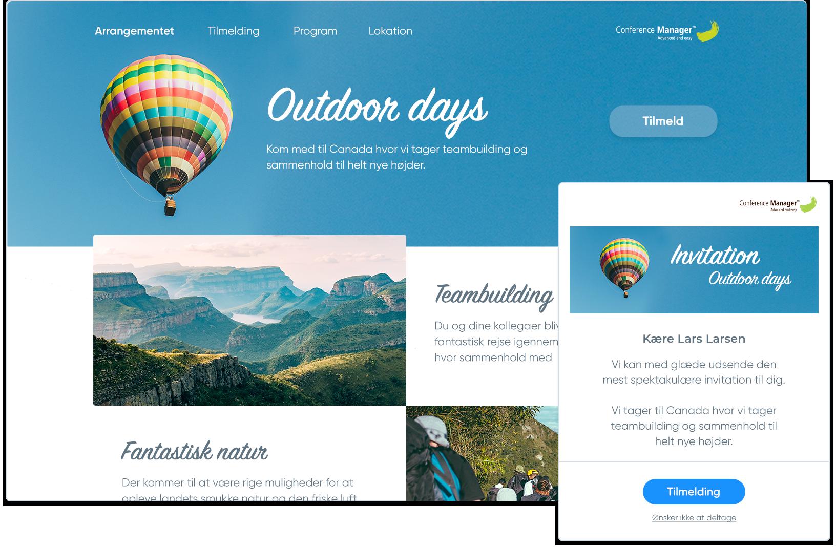 Custom website til ét særligt arrangement